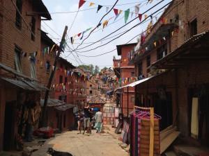 ネパールの町並み